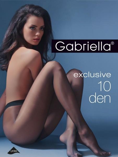 Gabriella - Elegantní průsvitné punčochové kalhoty Exclusive, 10 DEN