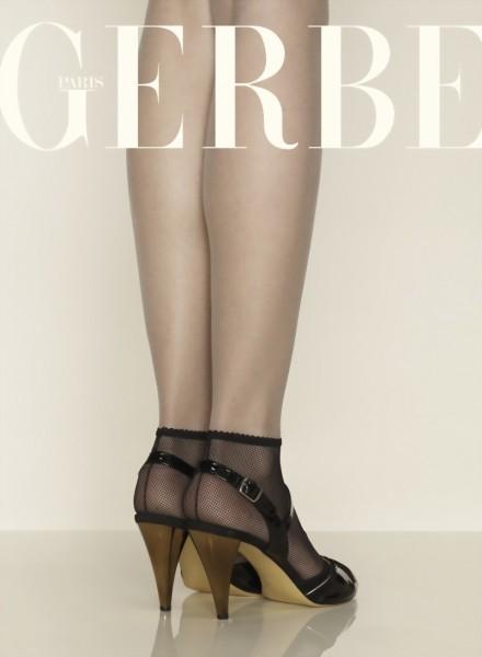 Gerbe - Elegant back seam fishnet ankle socks Sevilla