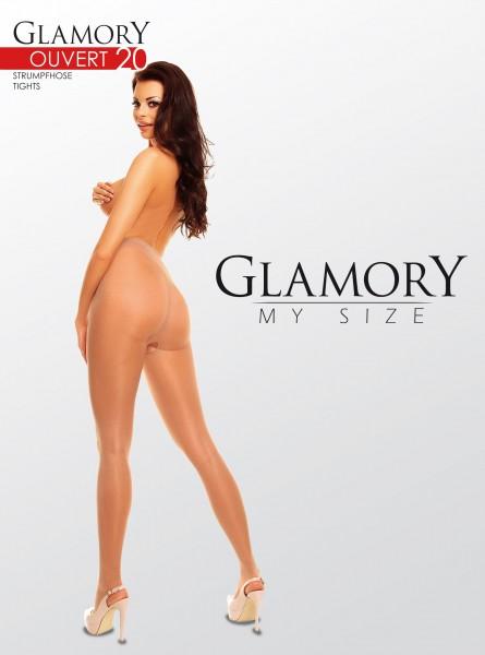 Glamory Ouvert - Glossy plus velikosti punčocháče s otevřeným rozkrokem