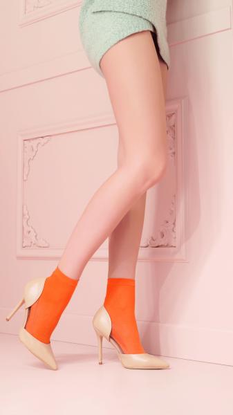 Trasparenze - Klasické nepr?hledné kotníkové ponožky s bavlnou Monique