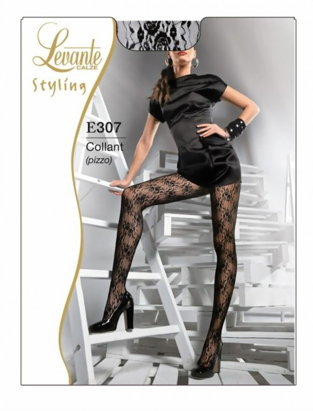 Levante - Elegant lace tights with beautiful floral pattern