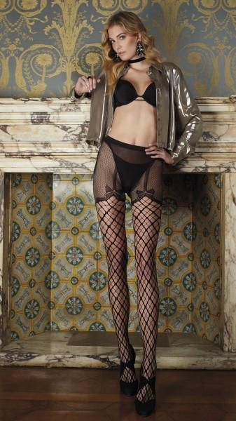 Trasparenze Merlot - Sensuous Strip Panty with bow pattern