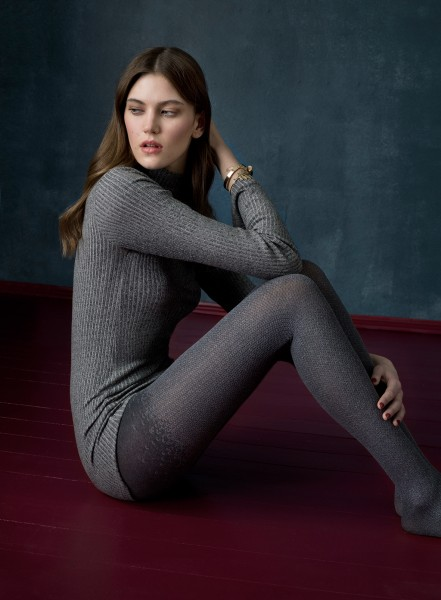 Fiore Daydream - 60 denier opaque tights with winter pattern