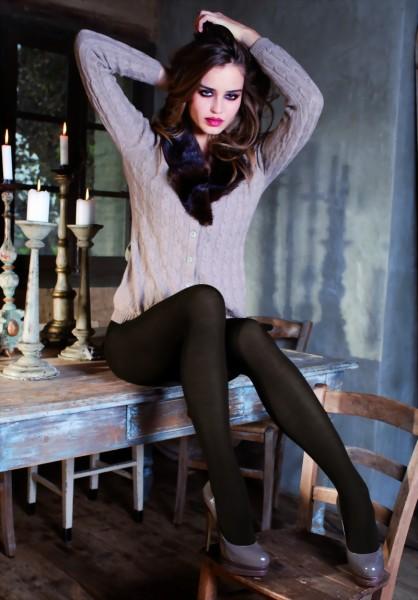 Trasparenze - Elegant warm winter tights with cashmere Georgia