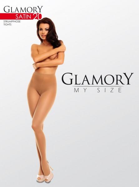Glamory - Glossy plus velikosti punčochové kalhoty Satin 20 denier