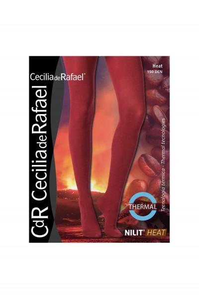 Cecilia de Rafael Heat - 150 denier teplé zimní punčochové kalhoty