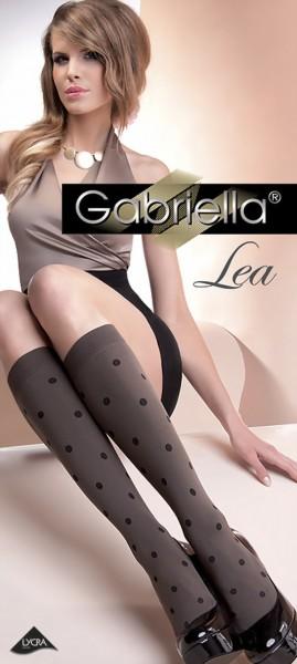 Gabriella - Opaque spot pattern knee highs Lea 60 denier