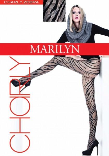 d01c161e71915 Marilyn - Trendy síťované punčocháče Zebra, 40 DEN ✅