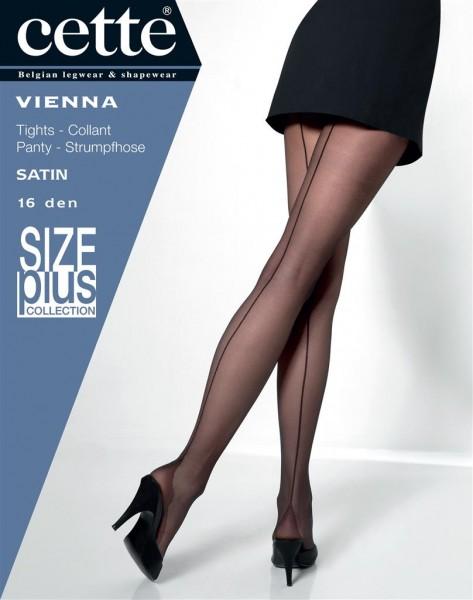 Cette - Timeless elegant plus size back seam tights Vienna
