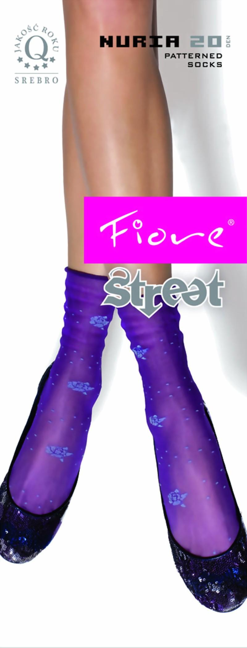 a8178851923d4 Fiore - Barevný květinový vzor ponožky Nuria 20 denier ✅