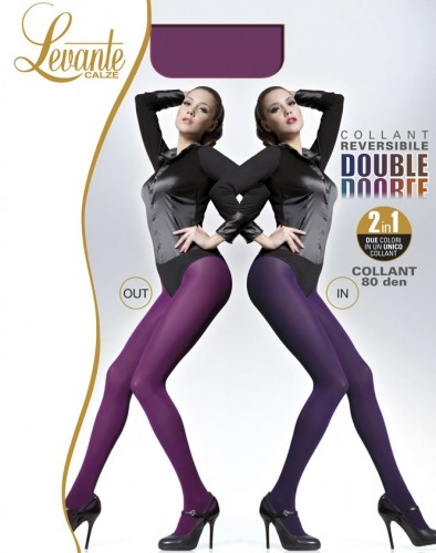 Levante - 80 denier opaque two-tone reversible tights Double