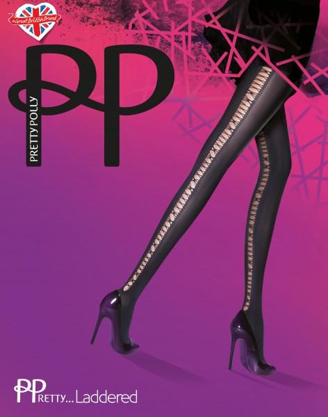 Pretty Polly - PPretty ... Laddered šněrování Effect punčocháče