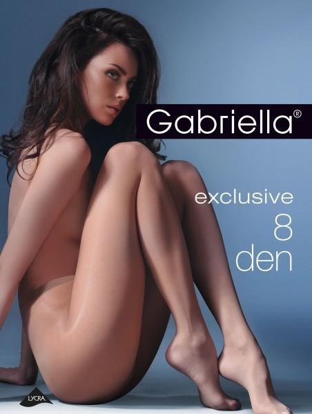 Gabriella - Ultra čiré punčochové kalhoty Exclusive, 8 DEN