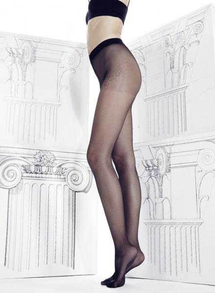 Omero Divina - Sheer k pasu bezešvé punčochové kalhoty s komfortním opaskem