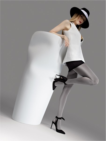 Knittex - Neprůhledná lesklé punčochové kalhoty Diverse 100 DEN