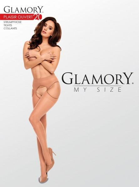 Glamory Satin Matt - 20 denier matné plus velikosti punčochové kalhoty