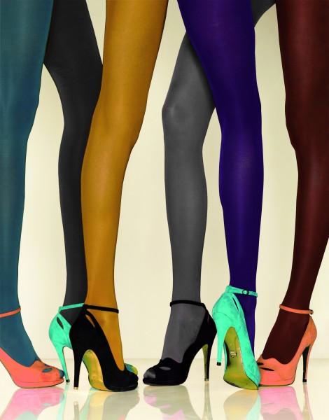 Gerbe - Neprůhledné podpůrné punčochové kalhoty hladký a lesklý povrch Futura 40 denier