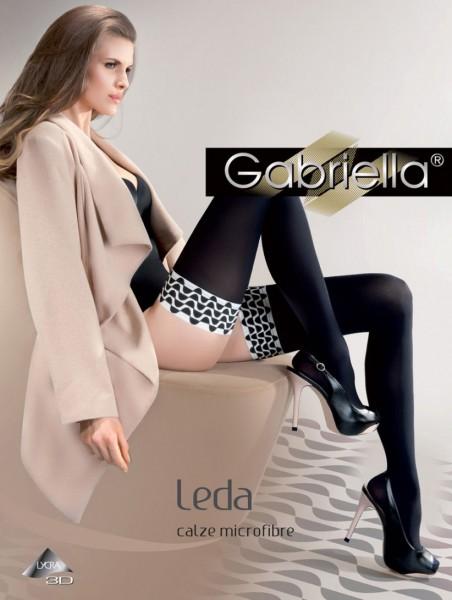 Gabriella Leda - Neprůhledné hold up s černou a bílou designu nahoru